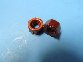 RED CLUTCH PEDAL BRACKET PEDAL ATTACHING NUTS